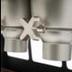 ROSSETO Ontbijtgranen dispenser 2 x 13 liter XXL op  houten standaard