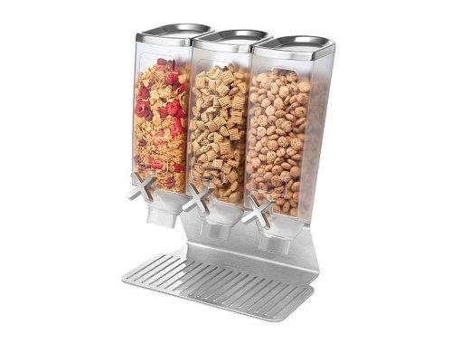 ROSSETO Cereal dispenser  3 x 3,8 liter on stainless steel base