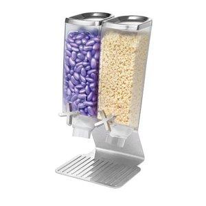 ROSSETO Ontbijtgranen dispenser 2 x 3,8 liter op roestvrijstalen standaard