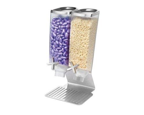 ROSSETO Cereal dispenser  2 x 3,8 liter on stainless steel base