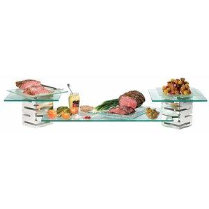 ROSSETO Multi-Level Brushed S/Sl and glass Buffet Riser  kit 5 pcs