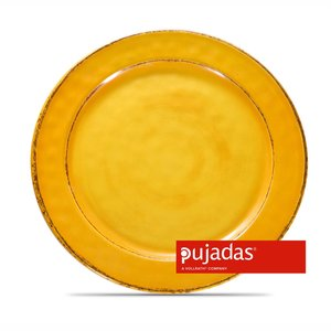 PUJADAS Flat plate 28 cm yellow melamine