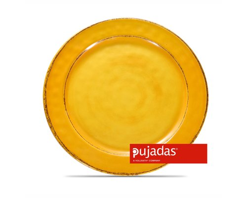 PUJADAS Plat taps bord 22 cm geel mélamine