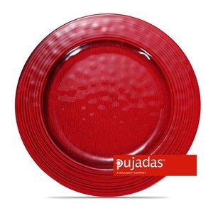 PUJADAS Flat plate 28 cm red melamine