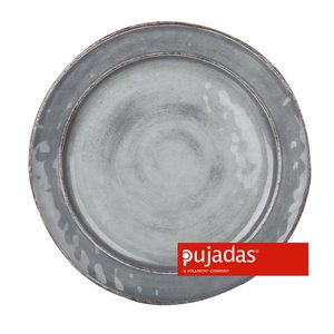 PUJADAS Flat plate 28 cm grey melamine