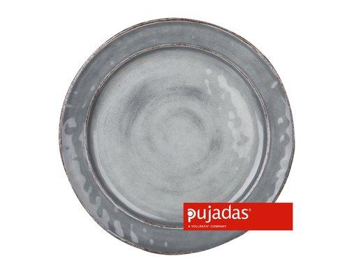 PUJADAS Plat  bord 28 cm grijze mélamine