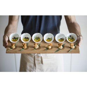 COOKPLAY  Serverplateau inclusief 6 mini bowls 10 x 8 x 5 cm