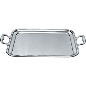 ALESSI  Rectangular tray with handles 48,5 x 37 cm