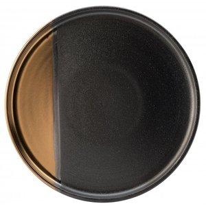 UTOPIA  Flat plate 30 cm Hedonism gold/black