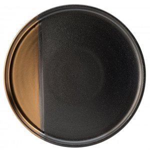 UTOPIA  Flat plate 25 cm Hedonism gold/black