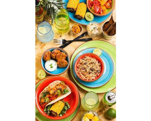 UTOPIA  Bowl / pasta bord 24 cm Salsa rood