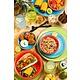 UTOPIA  Flat tapas plate 20 cm Salsa green