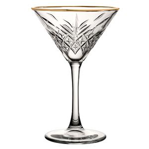 PASABAHCE Verre à  Martini 23 cl avec bord doré Timeless Vintage