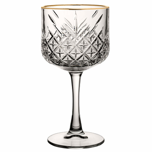 PASABAHCE Cocktail glas 55 cl  met  gouden  boord Timeless Vintage