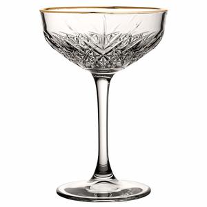 PASABAHCE Coupe à  cocktail 27 cl avec bord doré Timeless Vintage