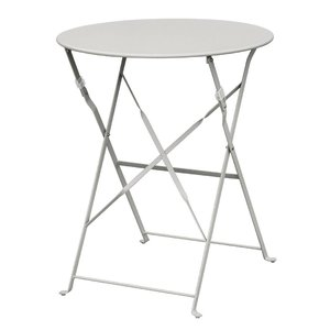 M & T  Table round 59,5 cm foldable grey