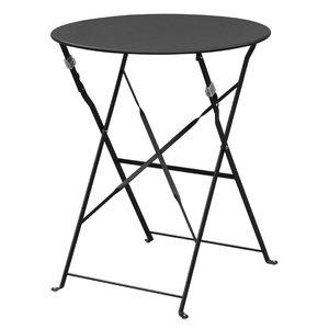 M & T  Table round 59,5 cm foldable black