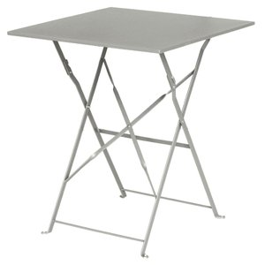 M & T  Table square 60 x 60 cm foldable grey