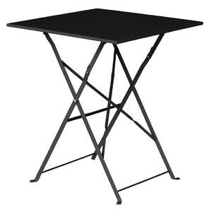 M & T  Table square 60 x 60 cm foldable black