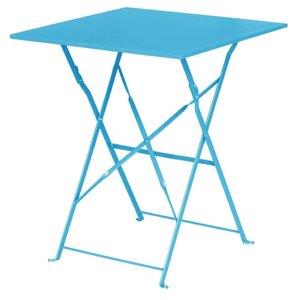 M & T  Table square 60 x 60 cm foldable seaside blue