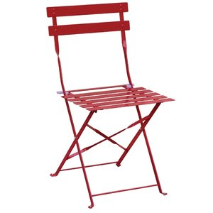 M & T  Chair foldable red