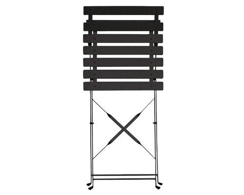 M & T  Chair foldable black