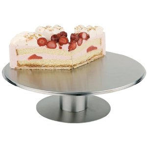M & T  Cake stand  s/s with revolving base