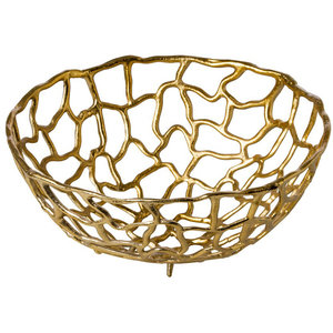 M & T  Basket 38 cm aluminium gold color