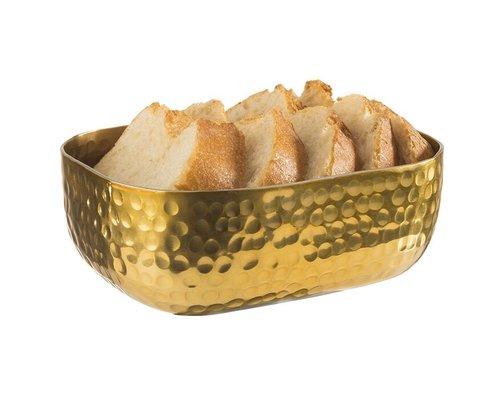 M & T  Basket aluminium gold color