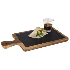 M & T  Serving board with slate insert 26 x 18 cm