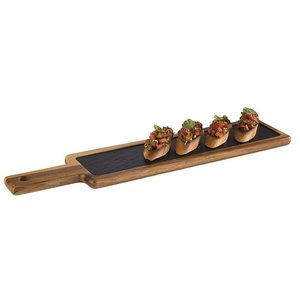 M & T  Serving board with slate insert 43 x 12 cm