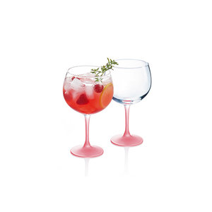LUMINARC  Cocktail - & Gin glas 70 cl met fuchsia voet