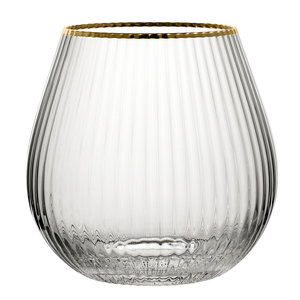 M & T  Hayworth stemless gin glass 65 cl Gold