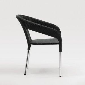M & T  Wicker Wraparound Bistro Chair