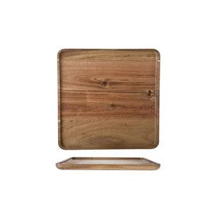 M & T  Dienblad acacia hout 26 x 26 x 1,6 cm