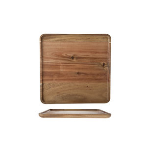 M & T  Serving tray acacia wood 26 x 26 x 1,6 cm