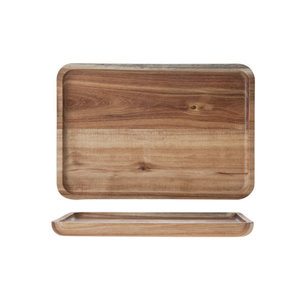 M & T  Serving tray acacia wood 21,5 x 15 x 1,6 cm