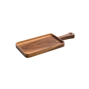 M & T  Dienblad met handvat acacia hout 36x15x 2 cm