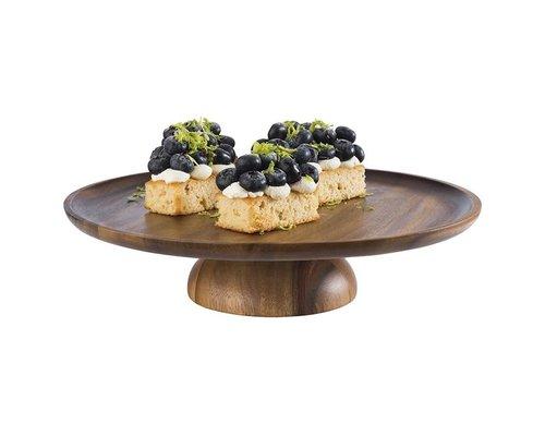 M & T  Cake stand acacia wood