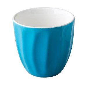 M & T  Trendy koffiemok 18 cl zonder oor blauw