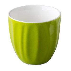 M & T  Trendy koffiemok 18 cl zonder oor groen