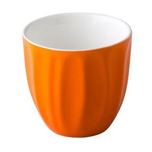 M & T  Trendy koffiemok 18 cl zonder oor oranje