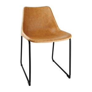 M & T  Side chair with camel seat