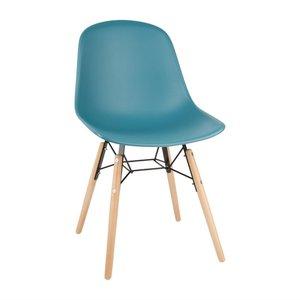 M & T  Chair teal polypropylene