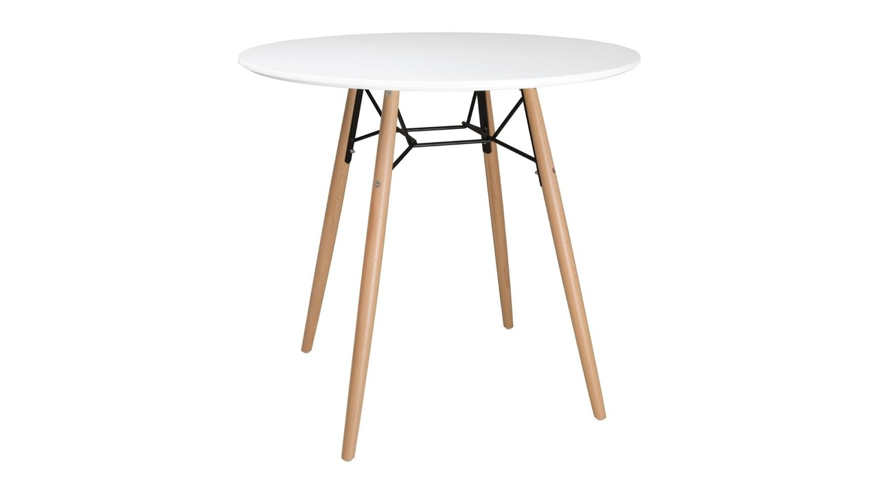 Table ronde 6 cm blanche
