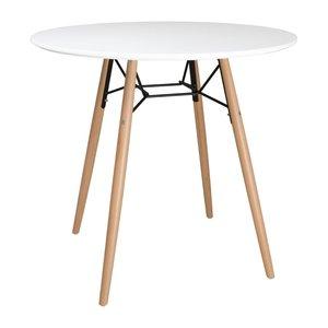 M & T  Round table 80 cm white
