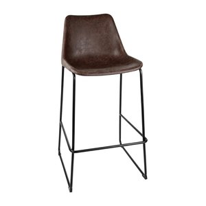 M & T  High stool with brown seat