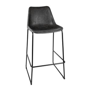 M & T  High stool with black seat
