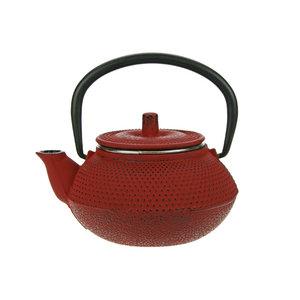 M & T  Teapot 30 cl red cast iron