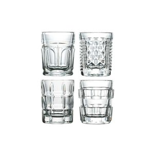 LA ROCHERE  Shot glass / shooter 6 cl set of 8 assorted glasses